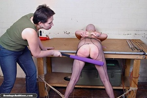 Horny bald bitch gets a really nasty can - XXX Dessert - Picture 1
