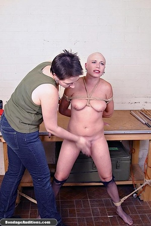 Horny bald bitch gets a really nasty can - XXX Dessert - Picture 9