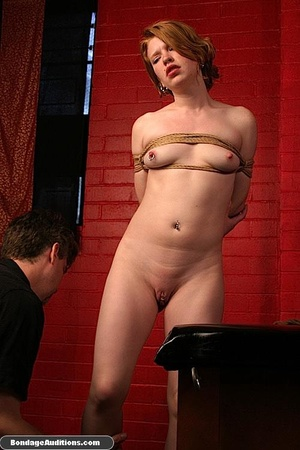 Tied up gal gets spanked and drilled wit - XXX Dessert - Picture 3