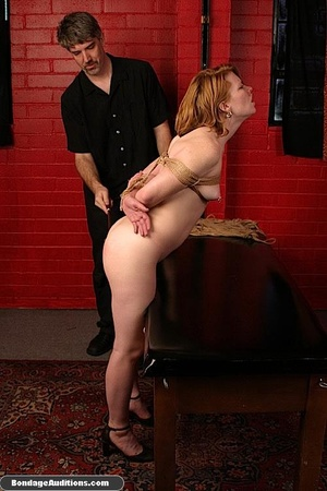 Tied up gal gets spanked and drilled wit - XXX Dessert - Picture 6