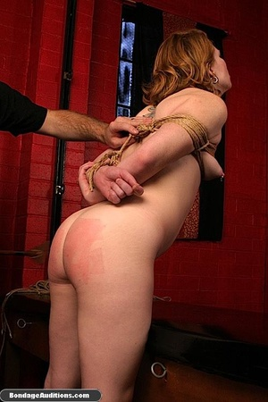 Tied up gal gets spanked and drilled wit - XXX Dessert - Picture 7