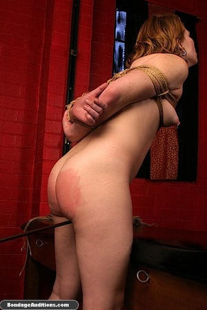Tied up gal gets spanked and drilled wit - XXX Dessert - Picture 8