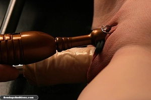 Tied up gal gets spanked and drilled wit - XXX Dessert - Picture 14