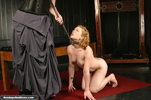 Sweet little tied up gal gets a nice wax - XXX Dessert - Picture 1