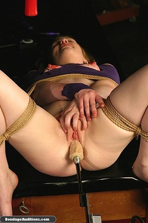Sweet little tied up gal gets a nice wax - XXX Dessert - Picture 9