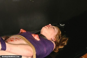 Sweet little tied up gal gets a nice wax - XXX Dessert - Picture 15