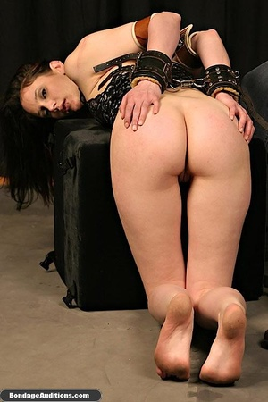 Tied up lady shows her perfect round but - XXX Dessert - Picture 14