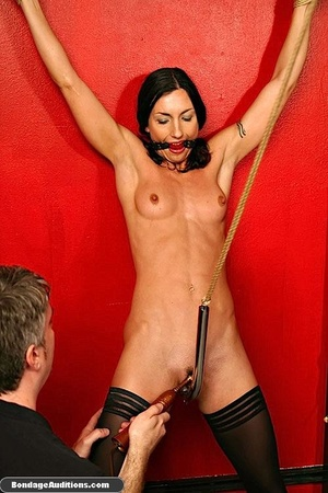 Tied up beauty gets a really painful cun - XXX Dessert - Picture 16