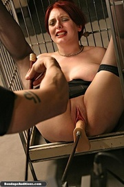 super hot caged redhead