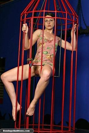 Caged slut gets a painful tits treatment - XXX Dessert - Picture 2