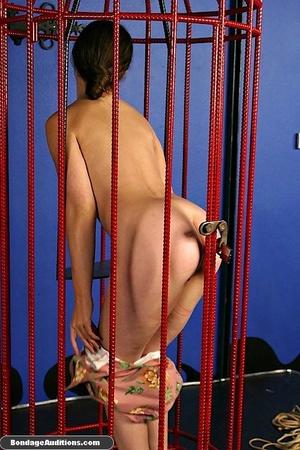 Caged slut gets a painful tits treatment - XXX Dessert - Picture 4