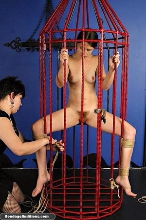 Caged slut gets a painful tits treatment - XXX Dessert - Picture 6