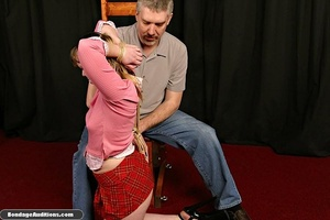 Cute schoolgirl tries to please her naug - XXX Dessert - Picture 4