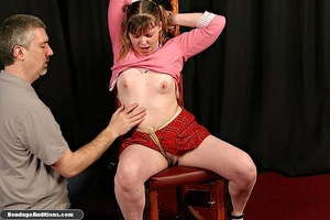 Cute schoolgirl tries to please her naug - XXX Dessert - Picture 6