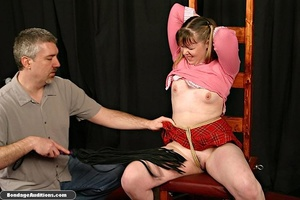 Cute schoolgirl tries to please her naug - XXX Dessert - Picture 9