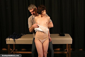 Innocent looking chick gets tied up and  - XXX Dessert - Picture 4