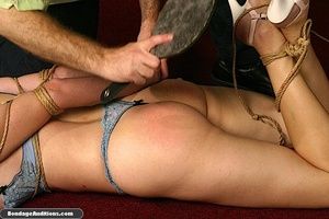 Sexy blonde babe gets hogtied and waxed  - XXX Dessert - Picture 10