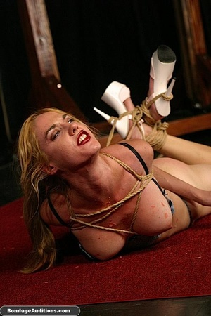 Sexy blonde babe gets hogtied and waxed  - XXX Dessert - Picture 15