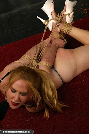 Sexy blonde babe gets hogtied and waxed  - XXX Dessert - Picture 16
