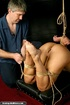 Tied up blondie gets drilled with a fucking…