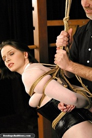 tied lady ready get