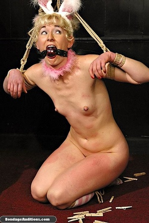 Blonde bunny gets gagged and used by her - XXX Dessert - Picture 16