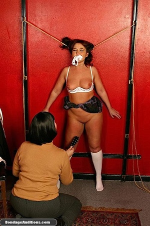 Tied up MILF gets teased and sucks a nic - XXX Dessert - Picture 9