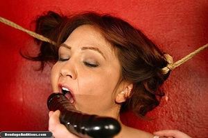 Tied up MILF gets teased and sucks a nic - XXX Dessert - Picture 12