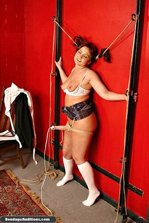 Tied up MILF gets teased and sucks a nic - XXX Dessert - Picture 16