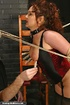 Redhead MILF in bondage loves clothespins on her…