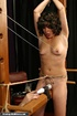 Bound darling is ready for a really painful sex session