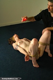 blindfolded tied and wax