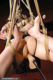 bondage chick tied ropes