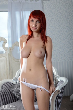 Impressive redhead gal with big natural titties - XXXonXXX - Pic 7