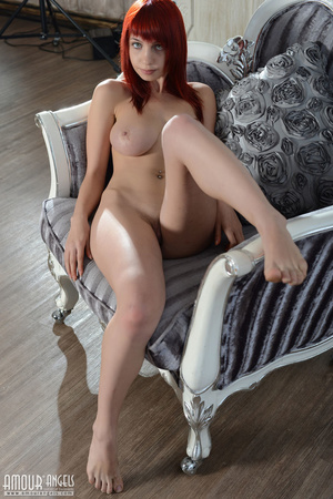 Impressive redhead gal with big natural titties - XXXonXXX - Pic 20