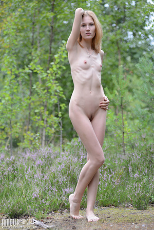 Beautiful redhead lady takes off her clothes outdoors - XXXonXXX - Pic 6