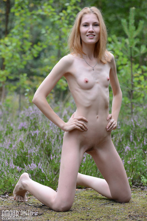 Beautiful redhead lady takes off her clothes outdoors - XXXonXXX - Pic 7