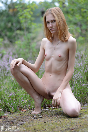 Beautiful redhead lady takes off her clothes outdoors - XXXonXXX - Pic 8