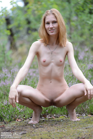 Beautiful redhead lady takes off her clothes outdoors - XXXonXXX - Pic 10