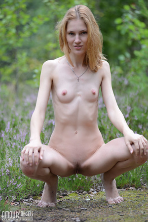 Beautiful redhead lady takes off her clothes outdoors - XXXonXXX - Pic 11