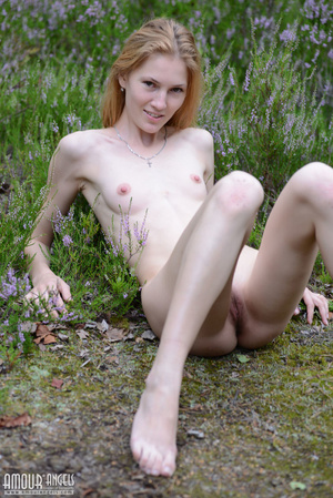 Beautiful redhead lady takes off her clothes outdoors - XXXonXXX - Pic 12