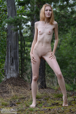 Beautiful redhead lady takes off her clothes outdoors - XXXonXXX - Pic 13