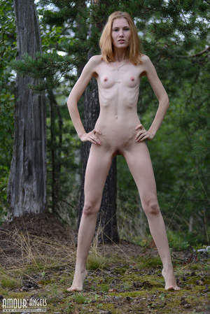 Beautiful redhead lady takes off her clothes outdoors - XXXonXXX - Pic 14