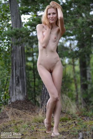 Beautiful redhead lady takes off her clothes outdoors - XXXonXXX - Pic 16