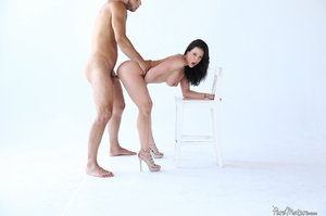 Raven haired gal with a trimmed twat get - XXX Dessert - Picture 11