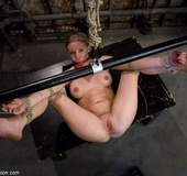 Blonde amateur gets humiliated hard by rude dominator