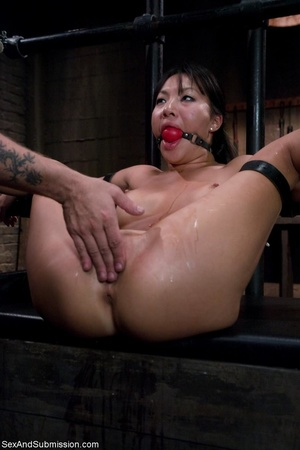 Adorable Asian keeps slits open and read - XXX Dessert - Picture 16