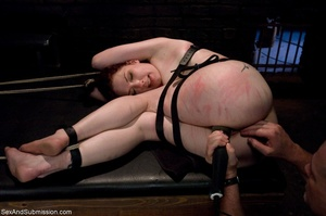 Looks like redhead enjoys bondage and ha - XXX Dessert - Picture 14