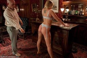 Busty pornstar in sexy corset tied up, g - XXX Dessert - Picture 3
