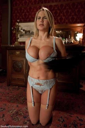 Busty pornstar in sexy corset tied up, g - XXX Dessert - Picture 4